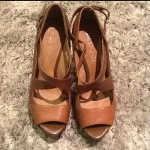 Aldo Brown Leather Heels Size 8/38